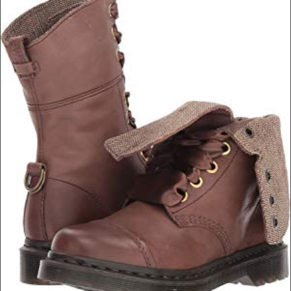 new design speical offer reasonably priced NIB Dr Marten Hazil boots, Virginia brown ribbon NWT